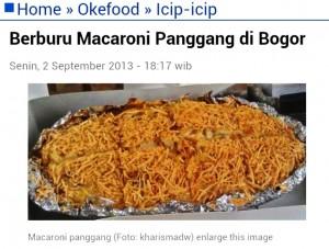Foto Makaroni Panggang